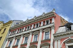 Old renovated building in centre of Plovdiv town Stock Images