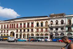 Old renovated buildings in Havana, Cuba Royalty Free Stock Images