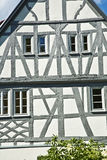 Old renovated half timbered houses Royalty Free Stock Photos