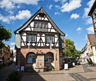 Old renovated half timbered houses Stock Photography