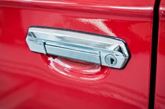 Retro car handle Royalty Free Stock Images