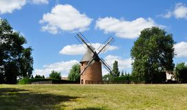 Old renovated windmill Stock Photography