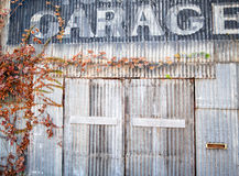 Old repair garage. Abandoned urban auto repair shop Royalty Free Stock Photography