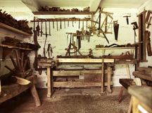 An old repair room in rustic house Stock Images