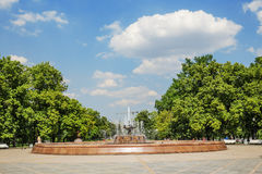 Old Repinskiy fountain in the Bolotnaya ploshchad, Moscow Stock Images
