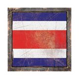 Old Republic of Costa Rica flag Stock Image