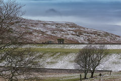 Old Reservoir Pump Station and Dam Wall Near Largs. Royalty Free Stock Images