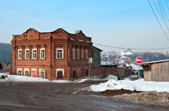 Old residence of the wealthy citizens of the late 19th century. Kamensk-Uralsky. Russia Royalty Free Stock Photos
