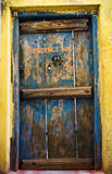 Old residence wooden doors Stock Photo