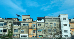 Old resident buildings in Bangkok Royalty Free Stock Photo