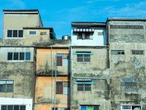 Old resident buildings in Bangkok Stock Photo