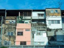 Old resident buildings in Bangkok Stock Photos