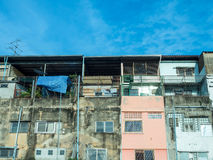 Old resident buildings in Bangkok Stock Photography