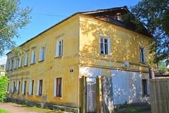 Old residental house on Bakunina street in Torzhok city, Russia Stock Photo