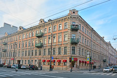 Old residental house on Nevsky Avenue in Saint Petersburg, Russia Royalty Free Stock Photo