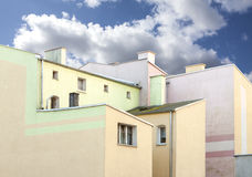 Old residential apartment blocks Royalty Free Stock Images