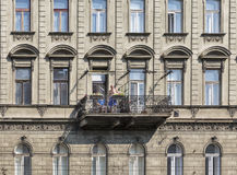 Old residential architecture in Budapest, Hungary. Royalty Free Stock Photos