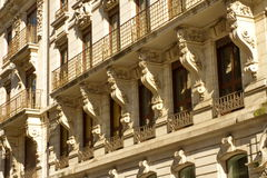 Old residential building facade, Geneva, Royalty Free Stock Photography