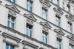 Old residential building facade - restored facade Royalty Free Stock Photo