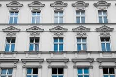 Old residential building facade - restored facade Stock Image