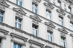 Old residential building facade - restored facade Royalty Free Stock Photo
