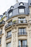 Old residential building front, Paris. Stock Photography