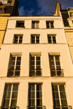 Old residential building front, Paris Stock Photos