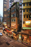Old residential building in Hong Kong Royalty Free Stock Photos