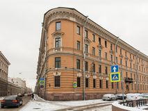 Old residential building Saint Petersburg Stock Photos