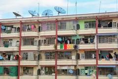 Old residential building in Yangon, Myanmar Royalty Free Stock Photos