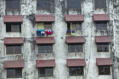 Old residential building in Yangon Stock Photography