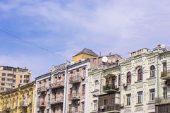 Old Residential Buildings Stock Image