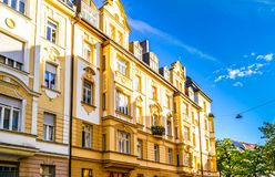View on old residential buildings in Munich, Germany royalty free stock images