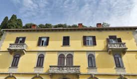 Old residential house in Piran, Slovenia royalty free stock photo