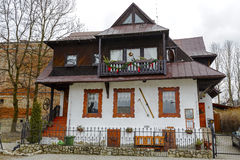 Old residential house in Zakopane Stock Photography