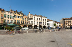 The old residential houses on Prato della Valle in Padua Stock Image