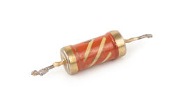 Old resistor. On white background Stock Image