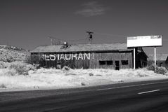 Old restaurant. Abandoned old building arizona Royalty Free Stock Image
