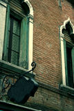 Old restaurant BLANK sign in Venice. In a street Royalty Free Stock Photos