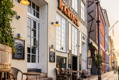 An old restaurant on the sidewalk in Copenhagen Stock Photography
