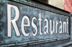 Old restaurant sign Royalty Free Stock Images