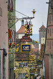 Old restaurant signs rothenburg Stock Images