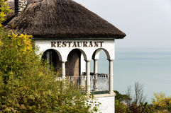 Old restaurant in Tihany at Lake Balaton Stock Photo
