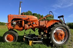 Old restored Allis Chalmers tractor Stock Photography