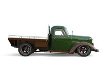 Old restored pickup. Pick-up in the style of hot rod. 3d illustration. Royalty Free Stock Images
