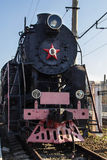 Old restored steam train with wagons Royalty Free Stock Photography