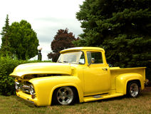 Old restored truck. Old restored yellow pick-up truck Royalty Free Stock Image