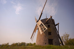 Old restored wind mill Stock Photo