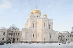 Old resurrection Cathedral of the Novodevichy convent in St. Petersburg Royalty Free Stock Photography