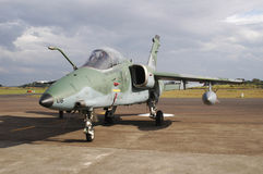 Old and retired fighter jet on the tarmac - Brazilian Air Force Royalty Free Stock Image